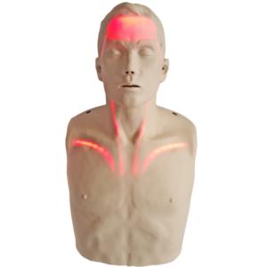 Brayden Reanimatiepop met rode ledverlichting