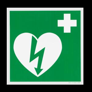 DefiSign AED Sticker 15x15 cm