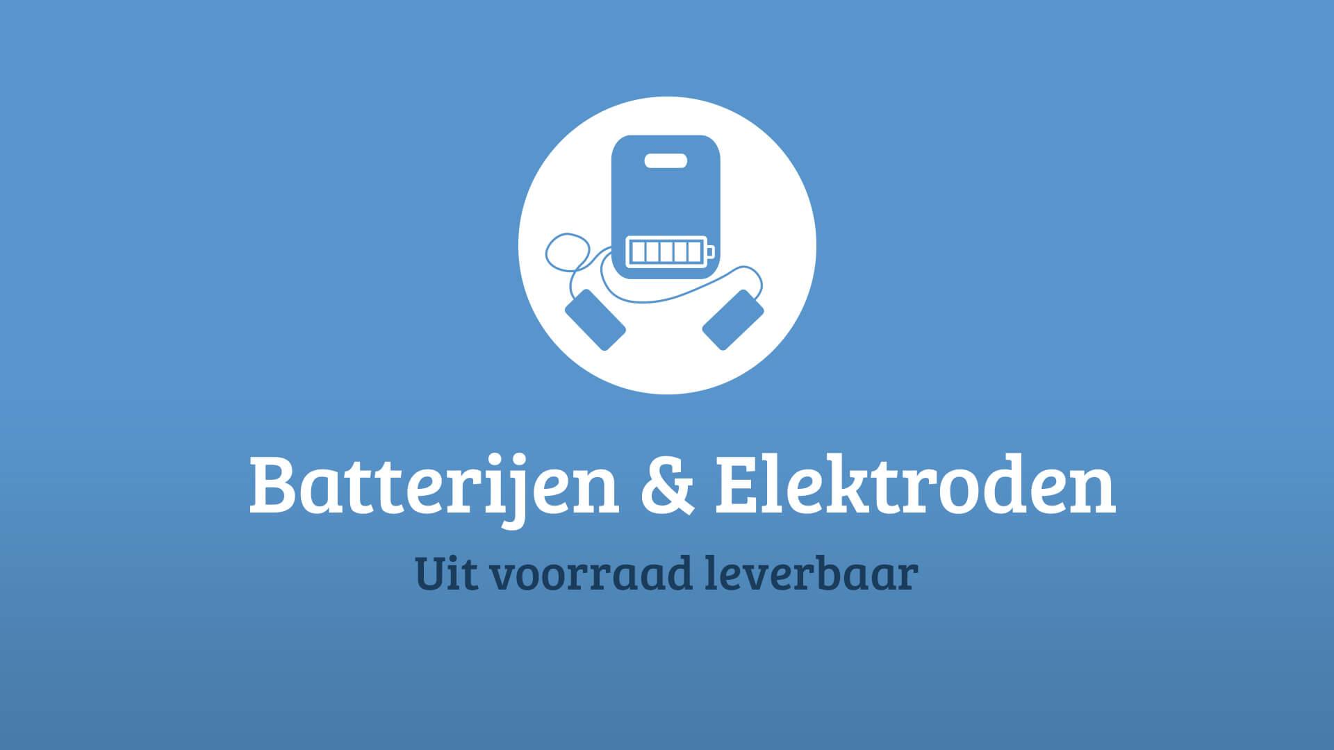Baterrijen en elektroden voor alle AED's