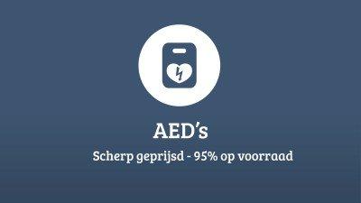 Alle AED's in een handig overzicht! Scherp geprijsd. 95% op voorraad.